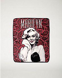 Paisley Marilyn Monroe Fleece Blanket