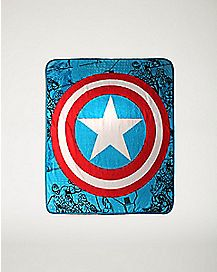 Shield Captain America Marvel Fleece Blanket