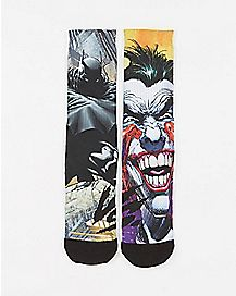 Sublimated Batman V Joker DC Crew Socks