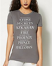 Book Titles T Shirt - Harry Potter
