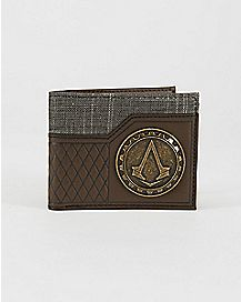 Live By The Creed Assassin's Creed Metal Badge Bifold Wallet