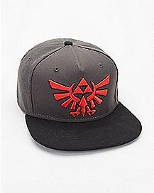 Embroidered Shadow Link Snapback Hat - The Legend Of Zelda
