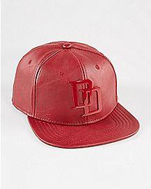 Faux Leather Daredevil Snapback Hat
