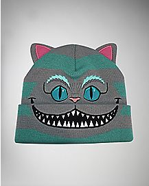 3D Cheshire Cat Alice In Wonderland Cuff Beanie Hat