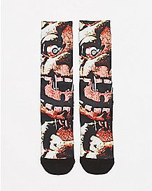 Split Face Five Nights At Freddy's Crew Socks