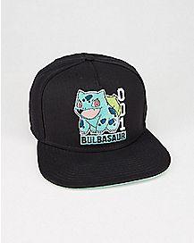 Bulbasaur Pokedex Pokemon Snapback Hat