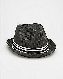Black Stripe Fedora Hat