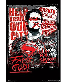 False God Batman V Superman Poster - DC Comics