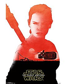 Rey The Force Awakens Poster - Star Wars