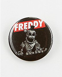 Black and White Five Nights at Freddy's Button