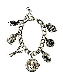 Alice In Wonderland Watch Charm Bracelet