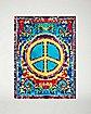 Peace Sign Fleece Blanket