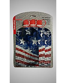 American Flag Disposable Flasks - 3 Pack