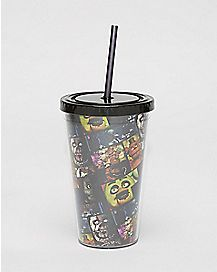 Five Nights At Freddy's Cup With Straw - 16 oz.