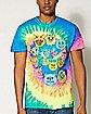Tie Dye Swirl Cat T shirt