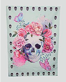 Flowers Skull Festival Mat