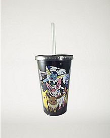 Evolved Eevee Pokemon Cup With Straw - 16 oz.