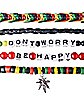 Don't Worry Be Happy Rasta Bracelet 5 Pack