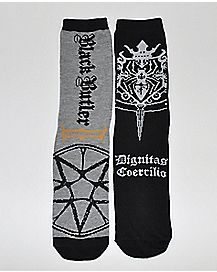 Black Butler Crew Socks 2 Piece