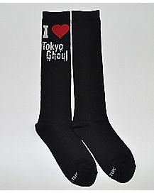 I Heart Tokyo Ghoul Knee High Socks