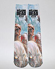 Sublimated Zombie Walking Dead Knee High Socks