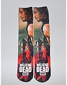 Sublimated Daryl Walking Dead Knee High Socks