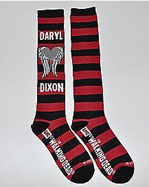 Striped Daryl Dixon Walking Dead Knee High Socks