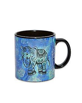 Glitter Elephant Coffee Mug - 22 oz.