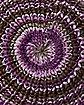 Grey & Purple Knit Beanie Hat