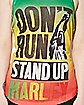 Don't Run Stand Up Bob Marley Tank Top