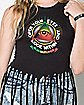 Open Your Eyes Bob Marley Fringe Tank Top