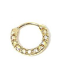 CZ Stone Clicker Septum Ring - 16 Gauge
