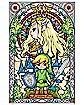 Stained Glass Link Zelda Poster - The Legend of Zelda