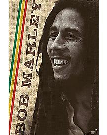 Rasta Smile Bob Marley Poster