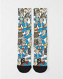 Sublimated Hiding Vaultboy Crew Socks