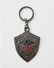 Shadow Link Shield Keychain - The Legend Of Zelda