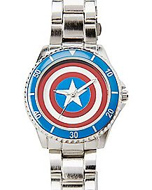 Shield Logo Captain America Marvel Watch
