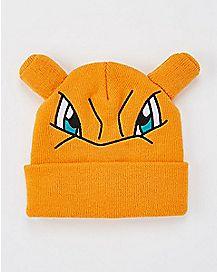 3D Charizard Pokemon Cuff Beanie Hat