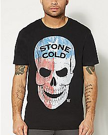 Stone Cold Skull WWE T Shirt