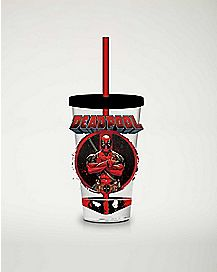 Deadpool Print Cup With Straw 16 oz. - Marvel Comics