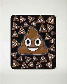 Smiley Poop Face Fleece Blanket