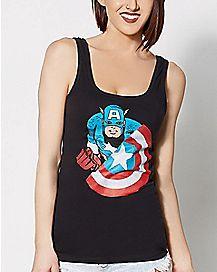 Shield Character Captain America Tank Top - Marvel Comics