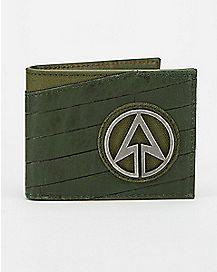 Metal Badge Arrow Bifold Wallet