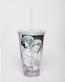 Black Butler Cup With Straw - 16 oz.