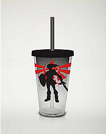Shadow Link Cup With Straw 16 oz. - The Legend Of Zelda