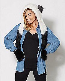 Panda Snood Hat