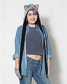 Plush Cheshire Cat Snood Hat