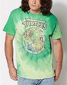 Group TMNT Tie Dye T shirt