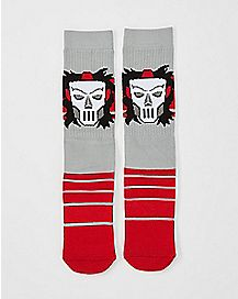 Casey Jones Crew Socks - TMNT