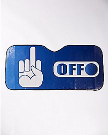 Middle Finger Fuck Off Car Sun Shade a2bef614205